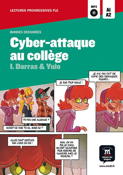 Cyber-attaque au college stripboek Frans A1-A2 jongeren